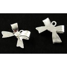 5 Breloques Noeud Argenté 15x10.5mm pour la Création de Bijoux Fantaisie - DIY