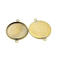 4 Supports Connecteur Bronze pour Cabochon 20mm pour la Création de Bijoux Fantaisie - DIY