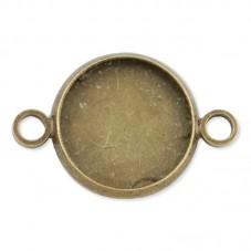 4 Supports Connecteur Bronze pour Cabochon 14mm pour la Création de Bijoux Fantaisie - DIY