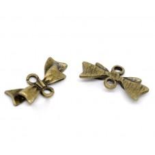 4 Connecteurs Noeuds Papillon Bronze 20x10mm pour la Création de Bijoux Fantaisie - DIY