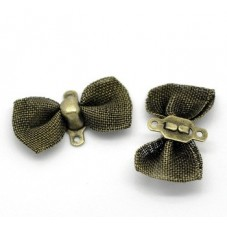 4 Connecteurs Noeuds Papillon Bronze 18x9mm pour la Création de Bijoux Fantaisie - DIY