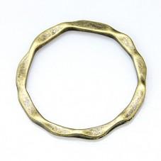 5 Connecteurs Rond Bronze 22mm pour la Création de Bijoux Fantaisie - DIY