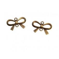 4 Connecteurs Noeuds Papillon Bronze 14x21mm pour la Création de Bijoux Fantaisie - DIY