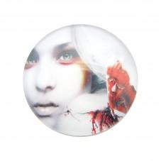 Cabochons en Verre Illustré Femme Gothique Papillon 25mm pour la Création de Bijoux Fantaisie - DIY