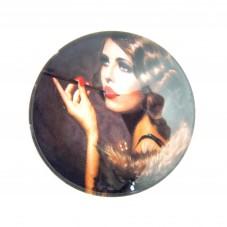 Cabochons en Verre Illustré Femme Vintage 25mm pour la Création de Bijoux Fantaisie - DIY