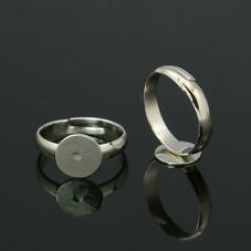5 Supports Bague Ajustable Platine 10mm pour la Création de Bijoux Fantaisie - DIY