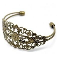 Support Bracelet Ajouré Filigrane Bronze pour la Création de Bijoux Fantaisie - DIY