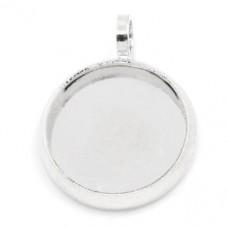 4 Supports Pendentif Argenté pour Cabochon 10mm pour la Création de Bijoux Fantaisie - DIY