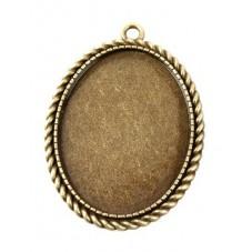Support Pendentif  Bronze pour Cabochon 30x40mm pour la Création de Bijoux Fantaisie - DIY