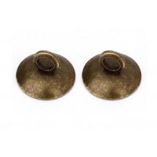 2 Attaches Pendentif Bronze pour Globe 8mm pour la Création de Bijoux Fantaisie - DIY