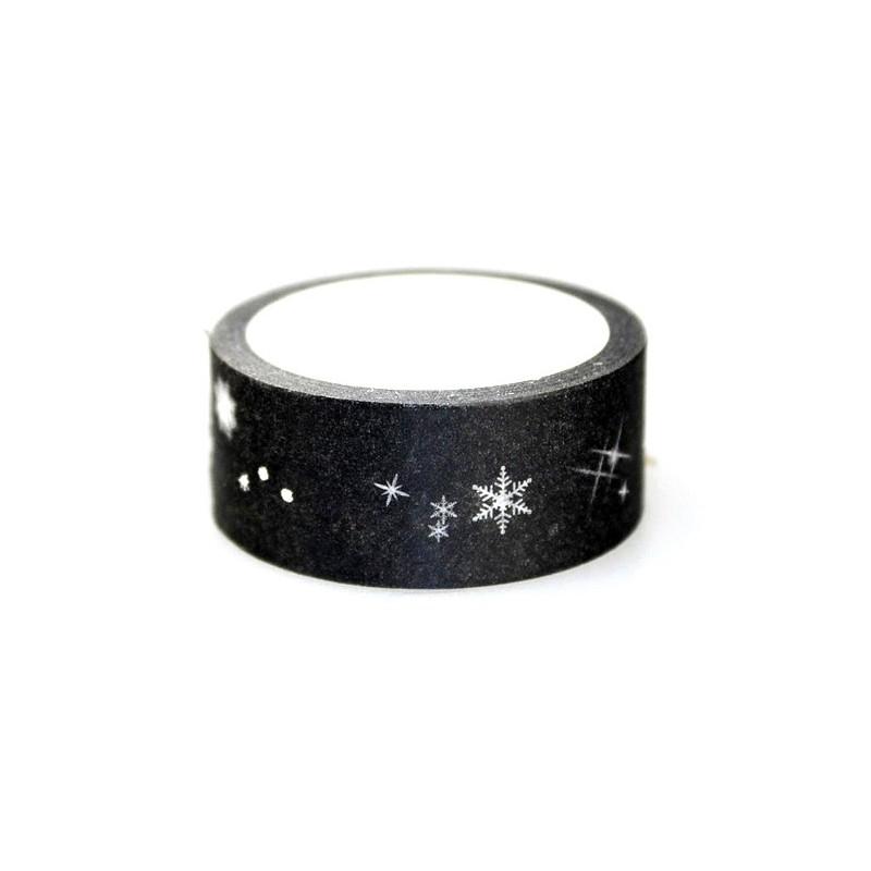 Rouleau de Masking Tape Étoile Argentée 15mmx5m