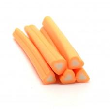 5 Canes Coeur Orange en Pâte Polymère 5cm pour la Création de Bijoux Fantaisie - DIY