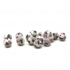 15 Perles Blanches en Pâte Polymère Fimo 8mm