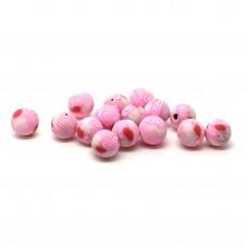 15 Perles Roses en Pâte Polymère Fimo 8mm pour la Création de Bijoux Fantaisie - DIY