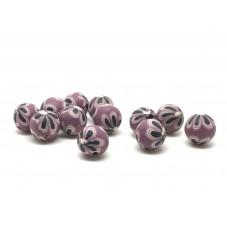 15 Perles Prune en Pâte Polymère Fimo 8mm pour la Création de Bijoux Fantaisie - DIY