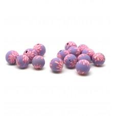 15 Perles Mauves en Pâte Polymère Fimo 8mm pour la Création de Bijoux Fantaisie - DIY