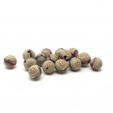 15 Perles Noires/Jaune en Pâte Polymère Fimo 8mm