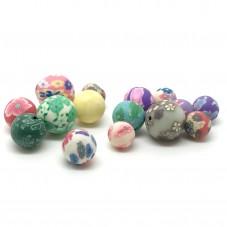 15 Perles en Pâte Polymère Fimo 8-12mm pour la Création de Bijoux Fantaisie - DIY