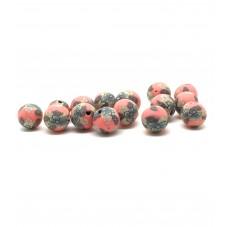 15 Perles Rouges en Pâte Polymère Fimo 8mm