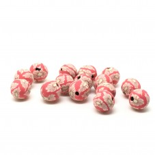 15 Perles Rouge en Pâte Polymère Fimo 8mm
