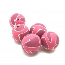 5 Perles Coeur en Pâte Polymère Fimo 14mm pour la Création de Bijoux Fantaisie - DIY