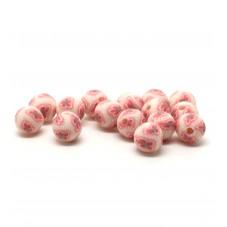 15 Perles Roses en Pâte Polymère Fimo 8mm