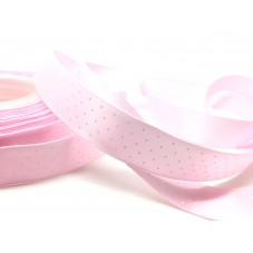 1 Mètre de Ruban Satin à Pois Rose Clair 15mm pour la Création de Bijoux Fantaisie - DIY