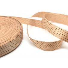 1 Mètre de Ruban Satin à Pois Caramel 15mm pour la Création de Bijoux Fantaisie - DIY