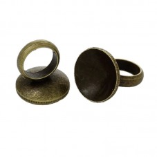 4 Attaches Pendentifs Bronze pour Globe 6mm