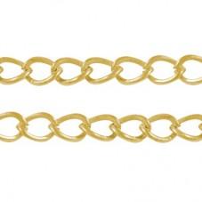 1 Mètre de Chaine à Maille Dorée 5mm pour la Création de Bijoux Fantaisie - DIY