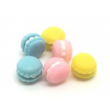6 Cabochons Macaron Gourmandise Miniature Fimo 5mm