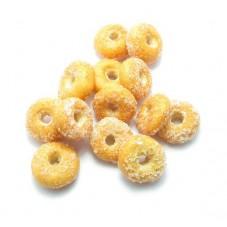 2 Beignets Donuts Miniatures en Pâte Polymère Fimo 10mm pour la Création de Bijoux Fantaisie - DIY