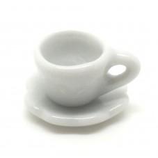 1 Mini Tasse et sa Soucoupe en Porcelaine