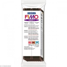 Fimo Soft Chocolat N°75 Pain 350g pour la Création de Bijoux Fantaisie - DIY