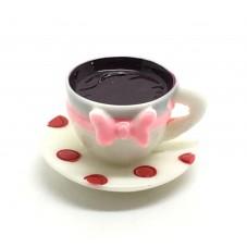 Breloque Grande Tasse de Café Gourmandise Miniature en Résine 21x16mm pour la Création de Bijoux Fantaisie - DIY