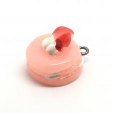 2 Breloques Gâteau à la Fraise Gourmandise Miniature en Résine 18x15mm pour la Création de Bijoux Fantaisie - DIY