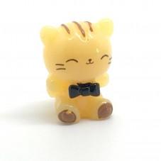 Cabochon Chat Miniature en Résine pour Globe 17x13mm