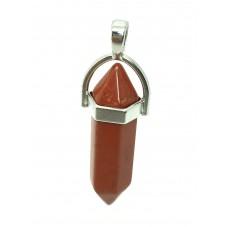 Pendentif en Pierre Naturelle Jaspe Rouge - Red Stone 4cm