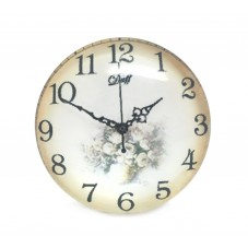 Cabochon en Verre Illustré Horloge Ancienne 25mm pour la Création de Bijoux Fantaisie - DIY