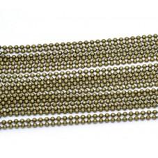1 Mètre de Chaine à Bille Bronze 2mm pour la Création de Bijoux Fantaisie - DIY