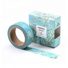 Rouleau de Masking Tape Cerisier Branche Fleur 15mmx7m