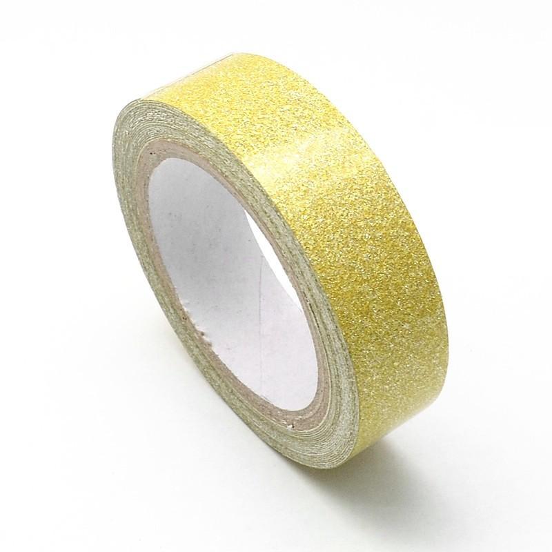 Rouleau de Masking Tape Doré Pailleté Paillette 15mmx4m