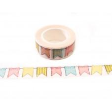 Rouleau de Masking Tape Fanion Multicolore 15mmx10m