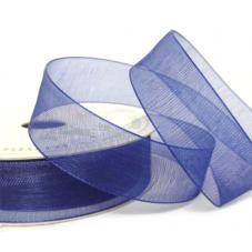 2 Mètres de Ruban d'Organza Bleu Nuit 15mm pour la Création de Bijoux Fantaisie - DIY