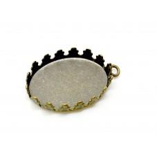 2 Supports Pendentif Bronze pour Cabochon 13x18mm pour la Création de Bijoux Fantaisie - DIY