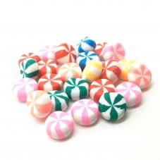 4 Cabochons Bonbons Miniature Fimo Fait Main 11x5mm