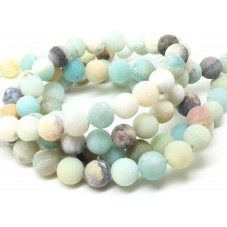 5 Perles Pierre Naturelle Amazonite 8mm