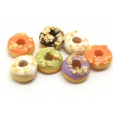 20 Donuts Gourmandise Miniature Fimo 10mm