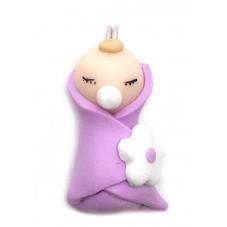 Breloque Bébé Fille en Pâte Polymère Fimo 22x10mm pour la Création de Bijoux Fantaisie - DIY