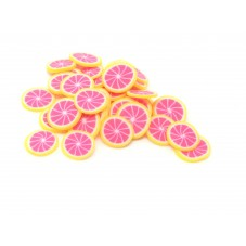 50 Tranches de Cane Fruit Pamplemousse Pâte Polymère Fimo pour la Création de Bijoux Fantaisie - DIY